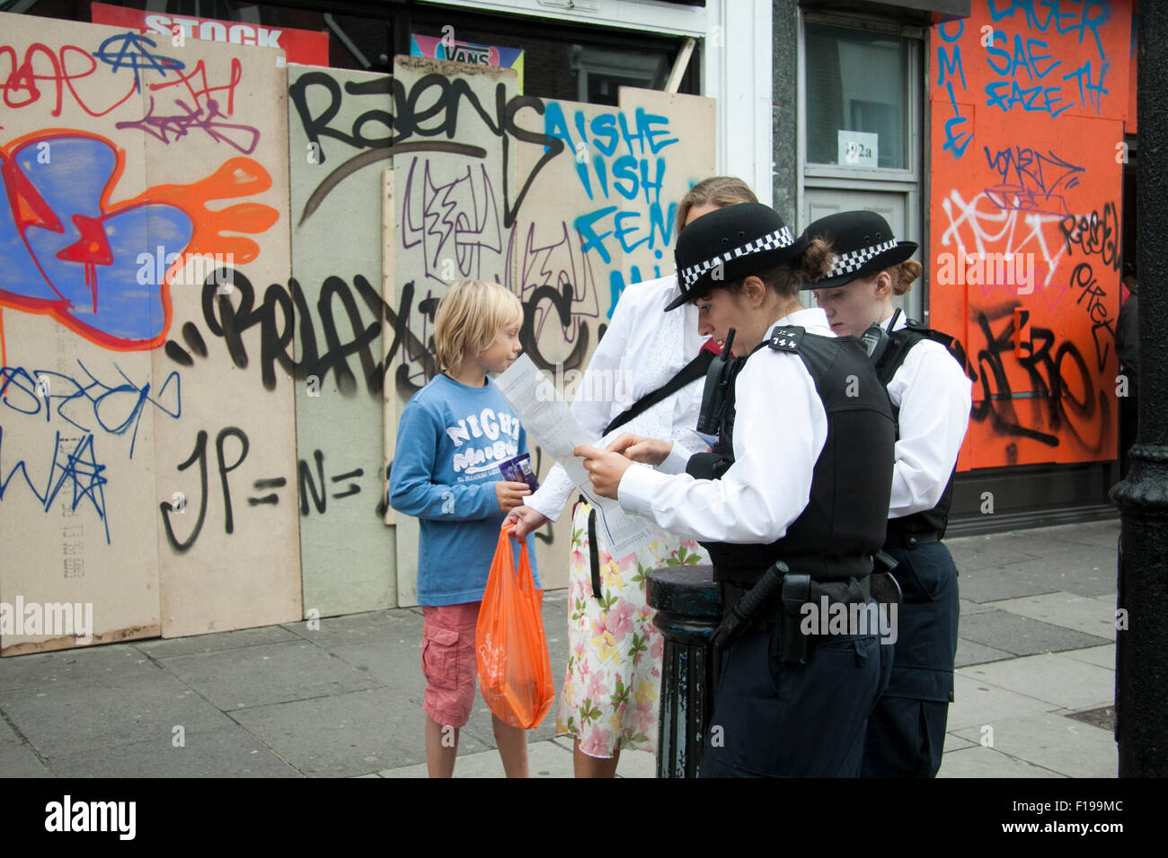 Notting Hill London,UK  30th August 2015  Police officers