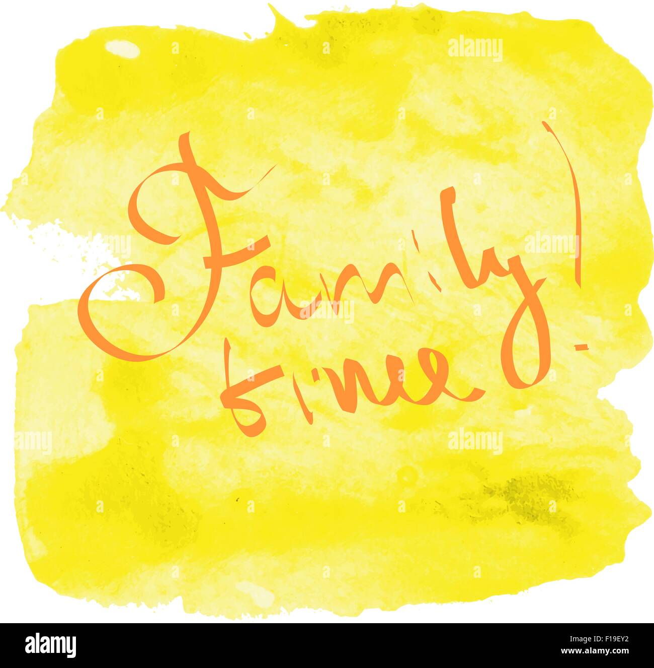 Family time lettering - Stock Image