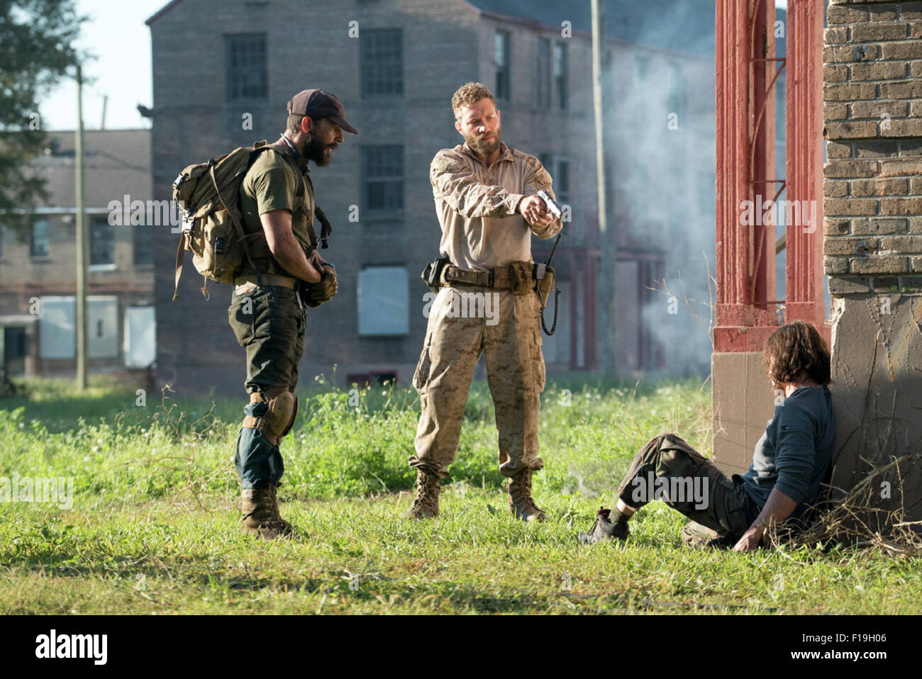 Man Down is an upcoming 2015 American post-apocalyptic war thriller drama film directed by Dito Montiel and written - Stock Image