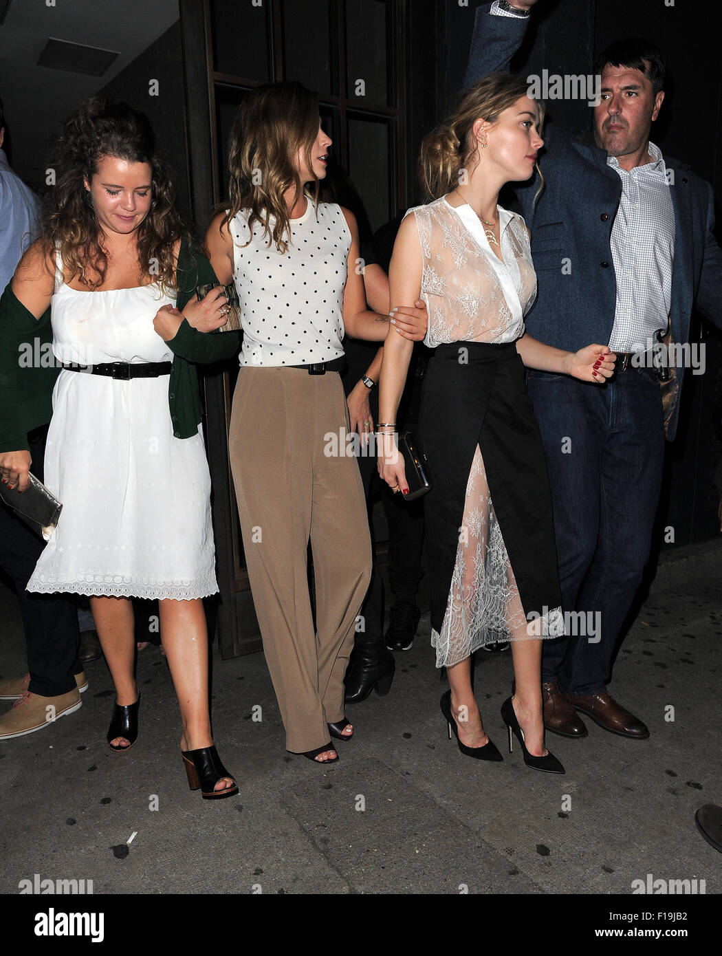 The Cast Of U0027Magic Mike XXLu0027 On A Night Out At Shoreditch House After  Dinner In Roka Restaurant. London. UK Featuring: Amber Heard Where: London,  ...