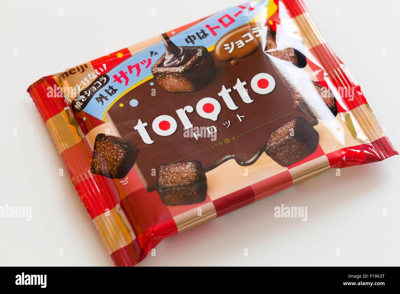 Meiji Torotto creamy chocolate package - Stock Image