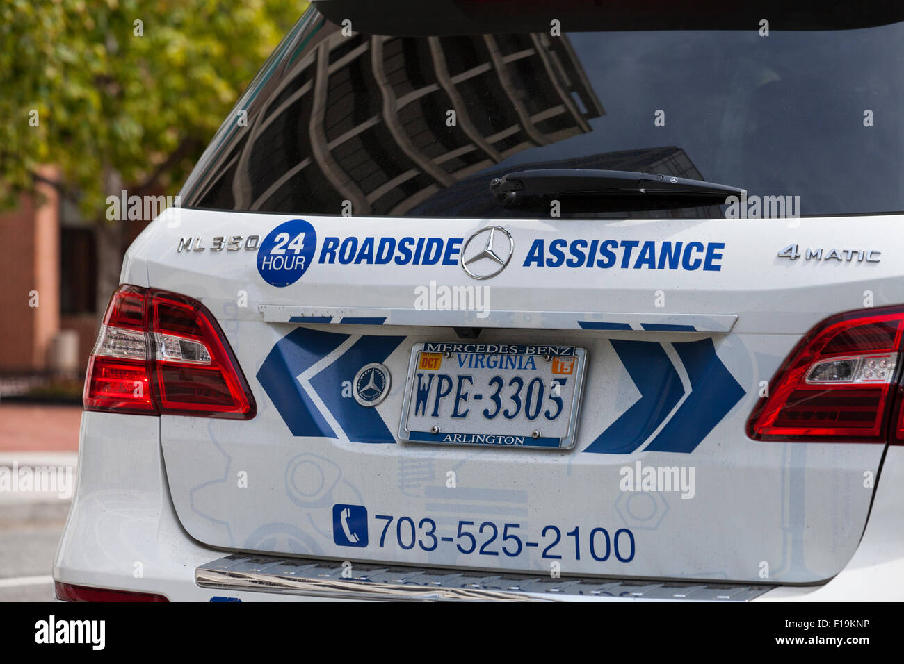 Mercedes Benz 24hr Roadside Assistance Vehicle   USA   Stock Image