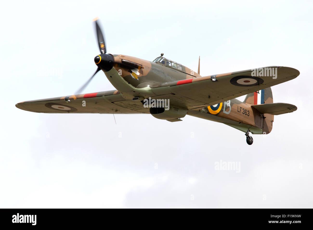 RAF BBMF Hurricane LF363 (Mk IIc) at RIAT Royal International Air Tattoo RAF Fairford July 2015 - Stock Image