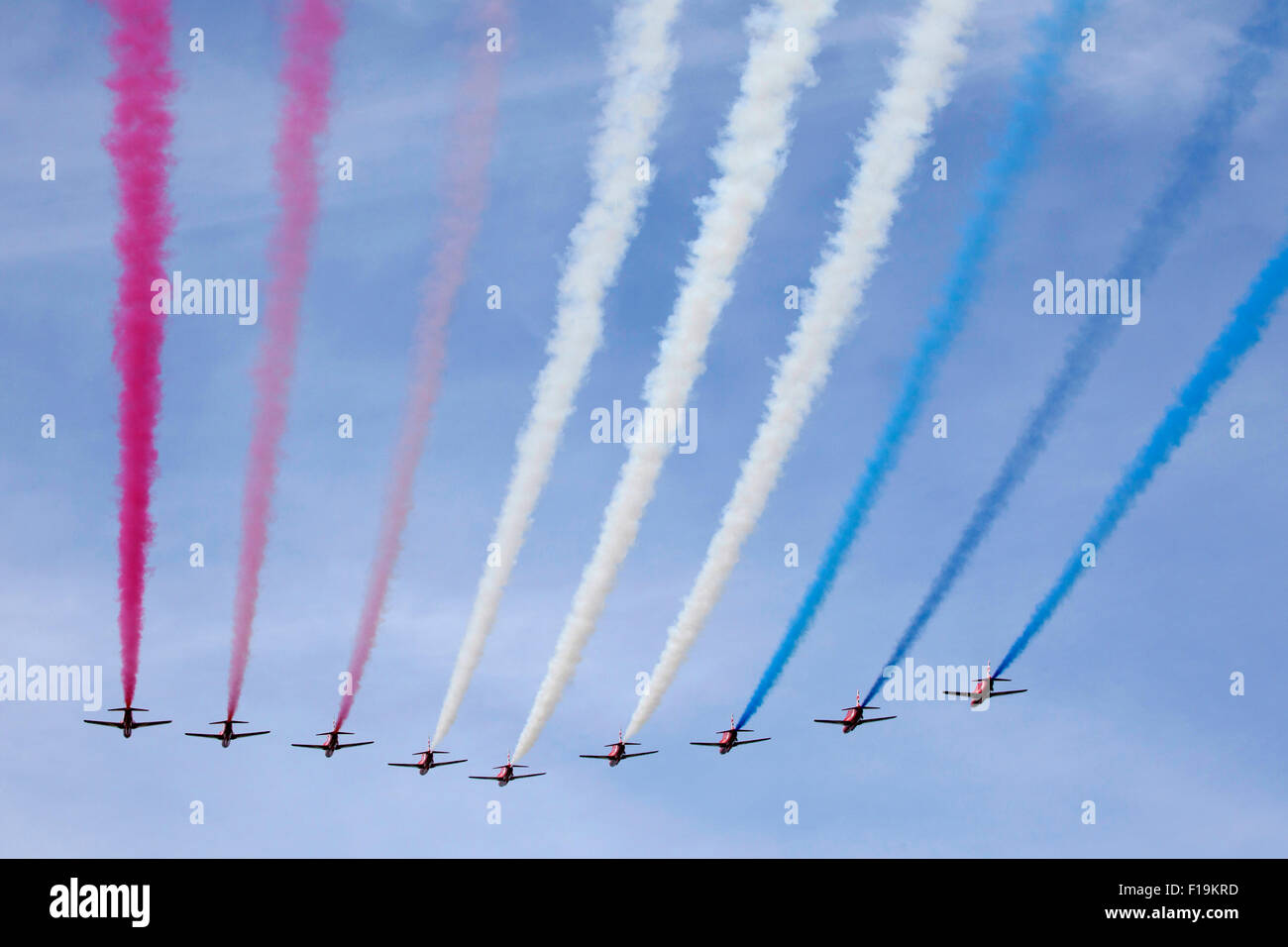 Royal Air Force Aerobatic Team Red Arrows at RIAT Royal International Air Tattoo RAF Fairford July 2015 Stock Photo