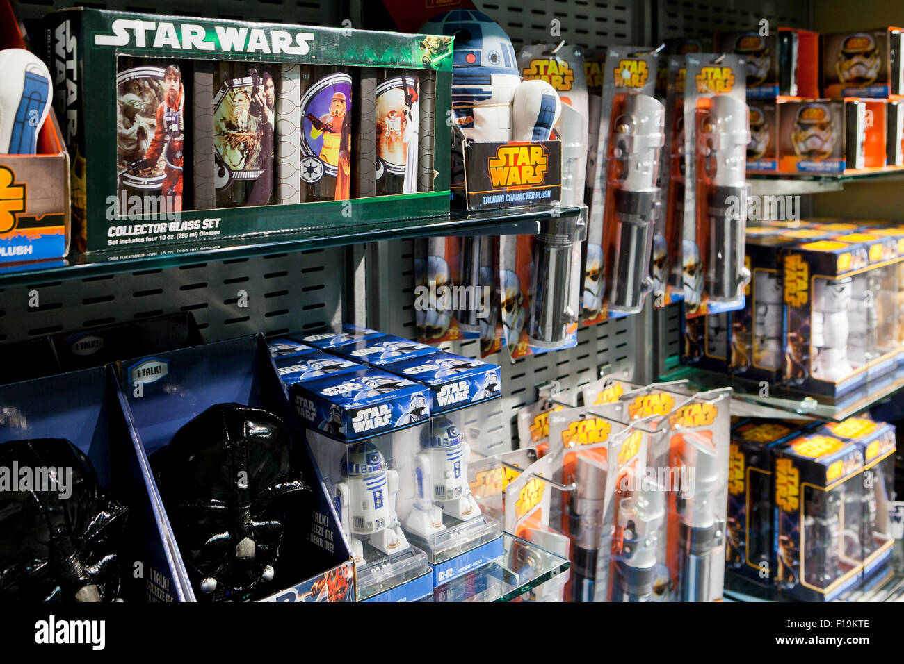 Star Wars Theme Toys At Toy Store Usa Stock Photo 86879646 Alamy