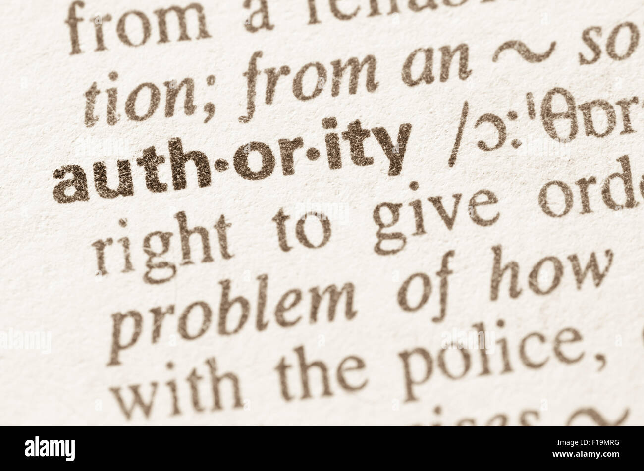 definition of the word authority