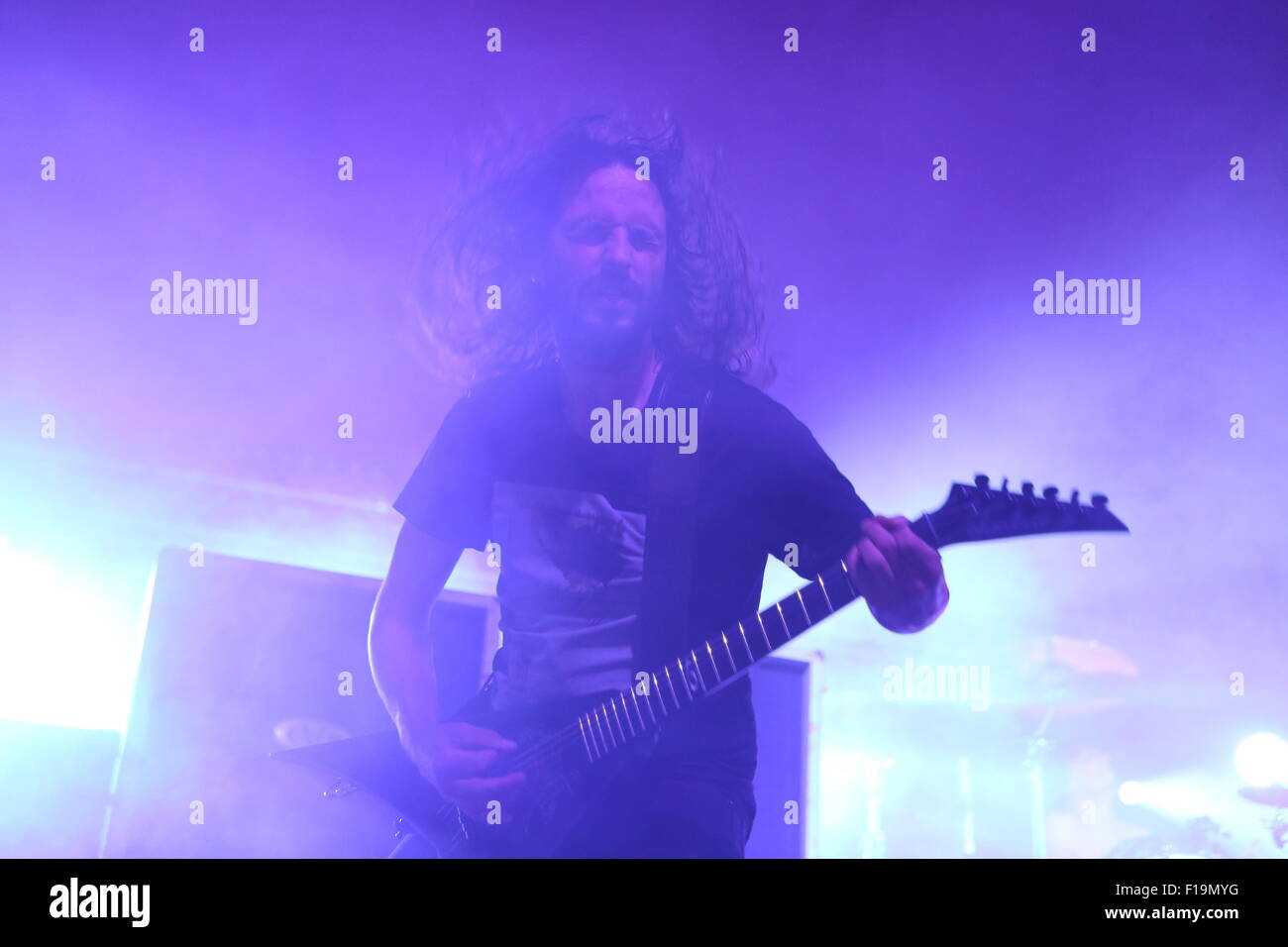 Leeds, Yorkshire UK. 30th August, 2015. Gojira perform live on The Lock Up Stage at Leeds Festival 2015 Credit: - Stock Image