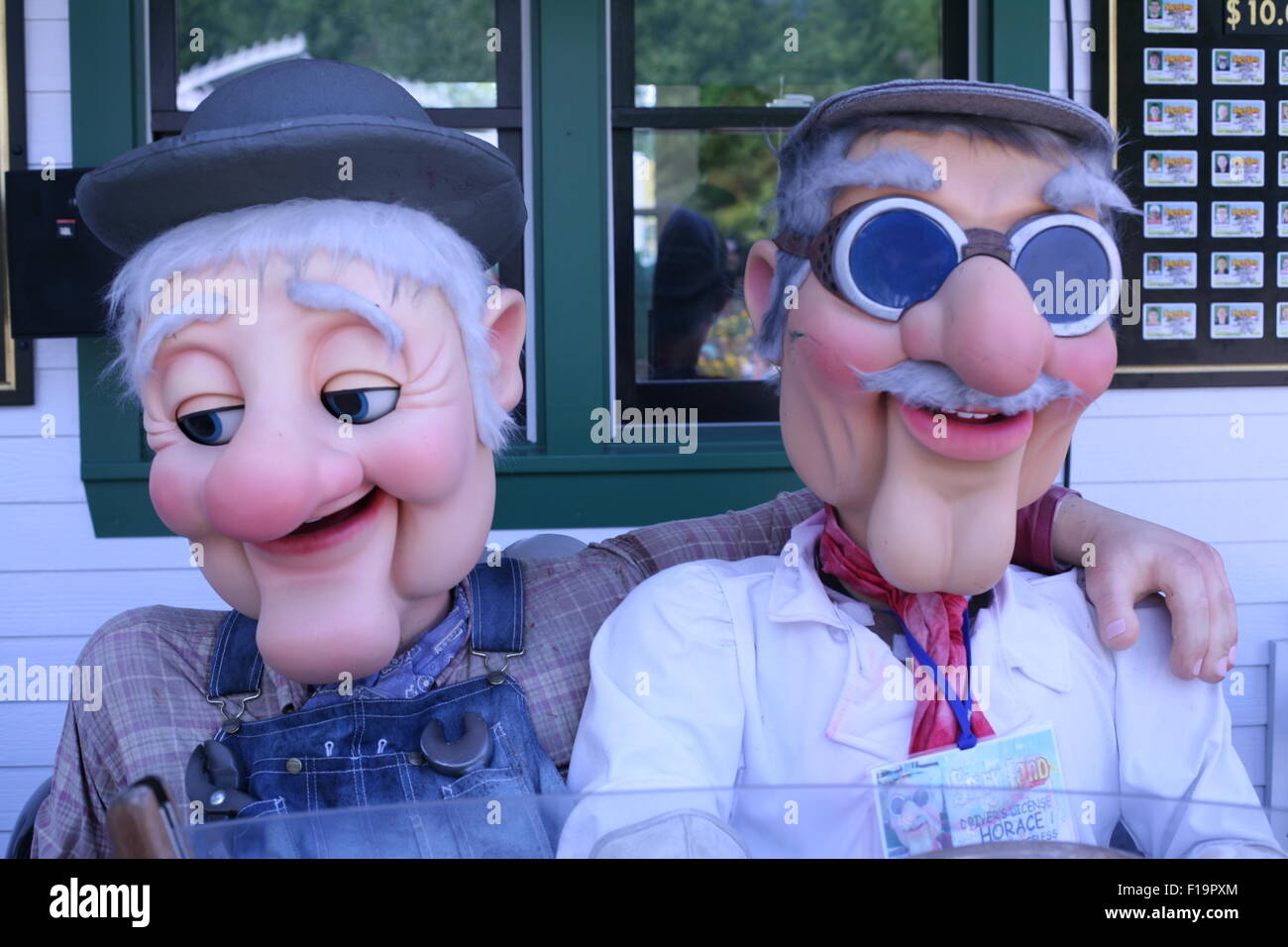 Grandma and Grandpa in Story Land ,New Hampshire, tourist attraction - Stock Image