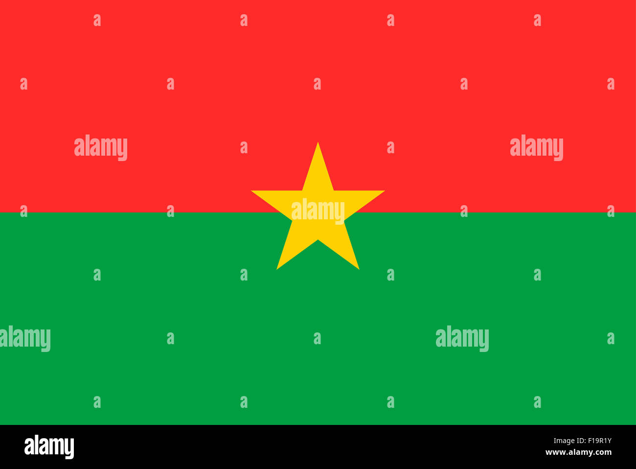 National flag of Burkina Faso - Stock Image