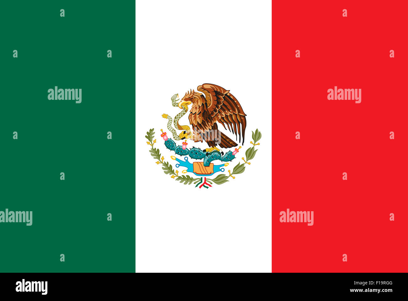National flag of Mexico - Stock Image