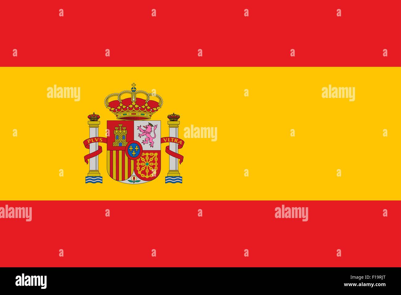 National flag of Spain Stock Photo