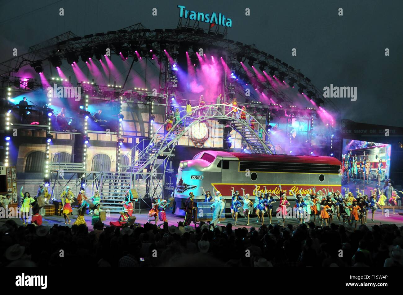 CALGARY STAMPEDE 2015.  The spectacular night show showcasing all things Canadian. - Stock Image