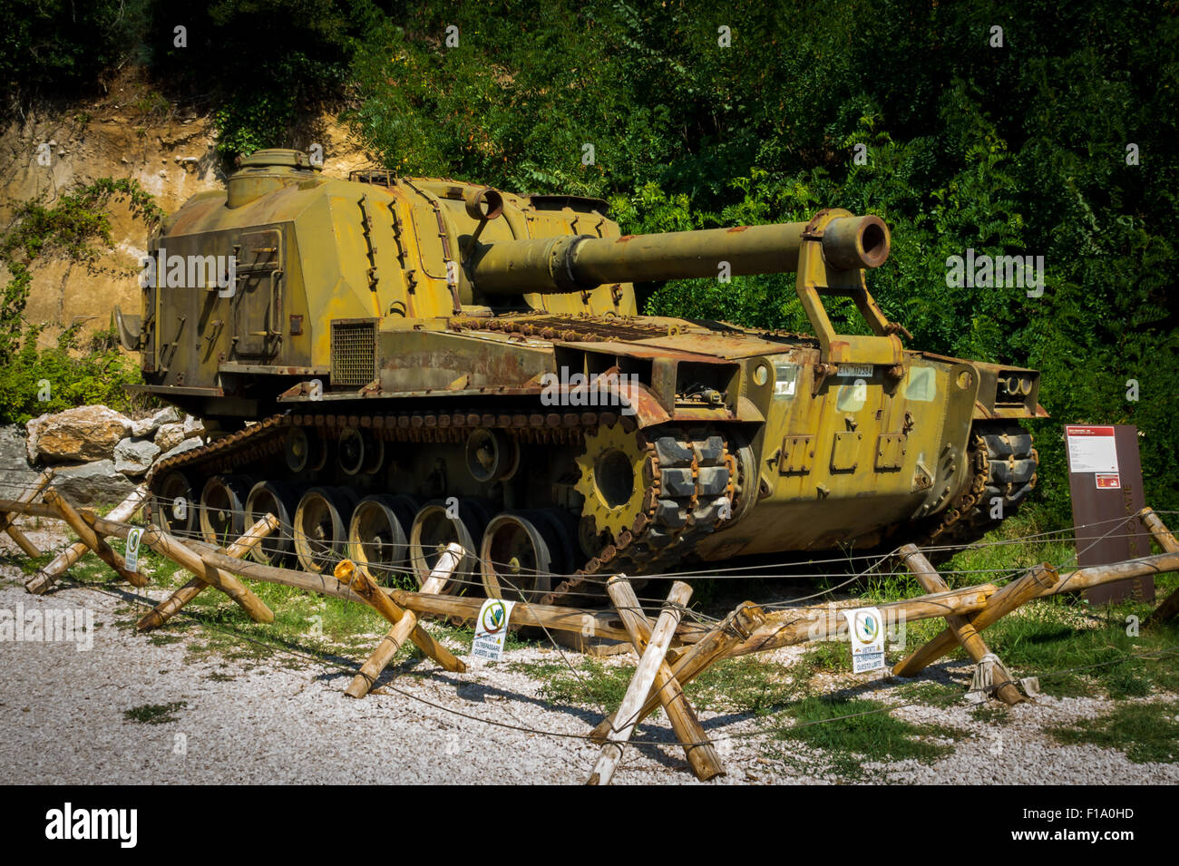 M55 Self Propelled Howitzer at Museum Monte Soratte - Stock Image