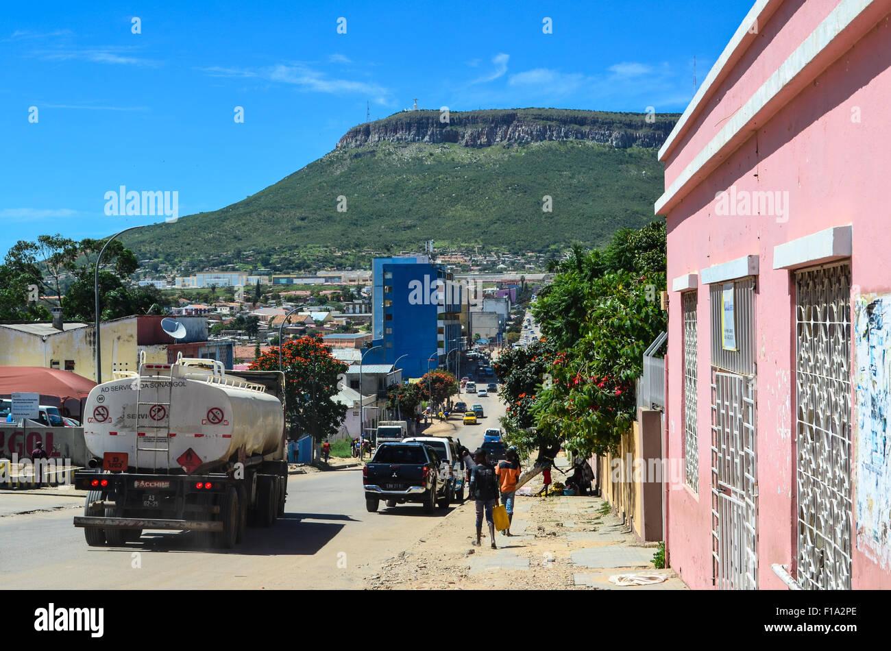 Streets of Lubango, Angola - Stock Image
