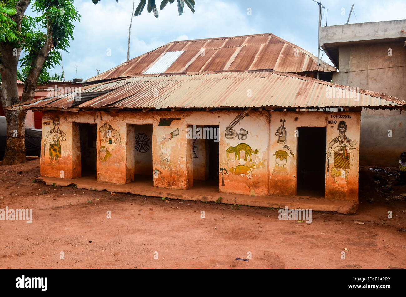 King palace in Abomey, Benin Stock Photo - Alamy