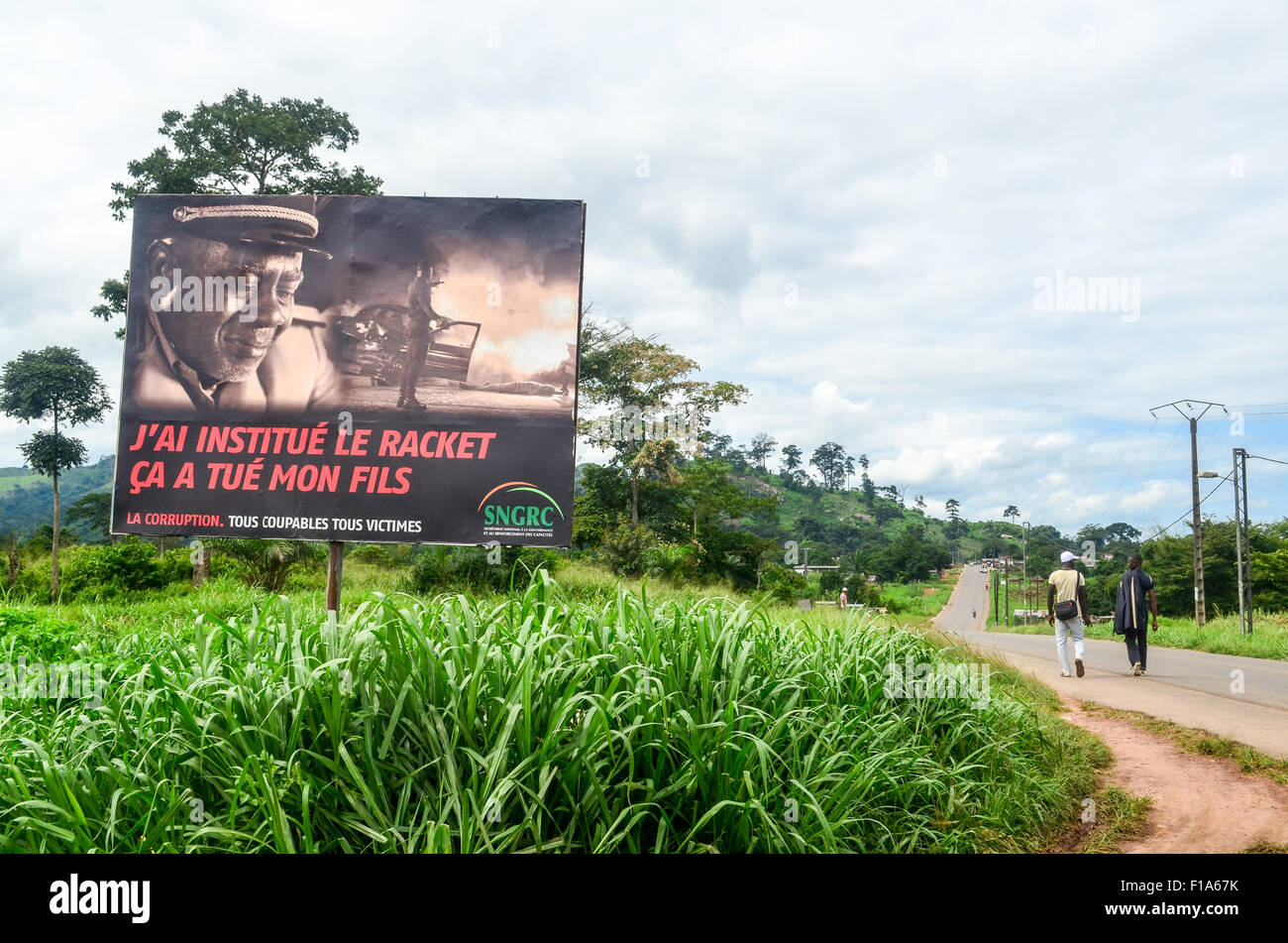 Campaign against racket and corruption, Ivory Coast, Africa - Stock Image