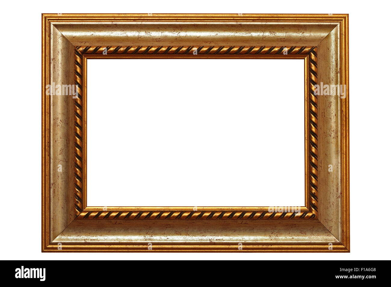 beautiful ancient carved in wood frame isolated over white ...