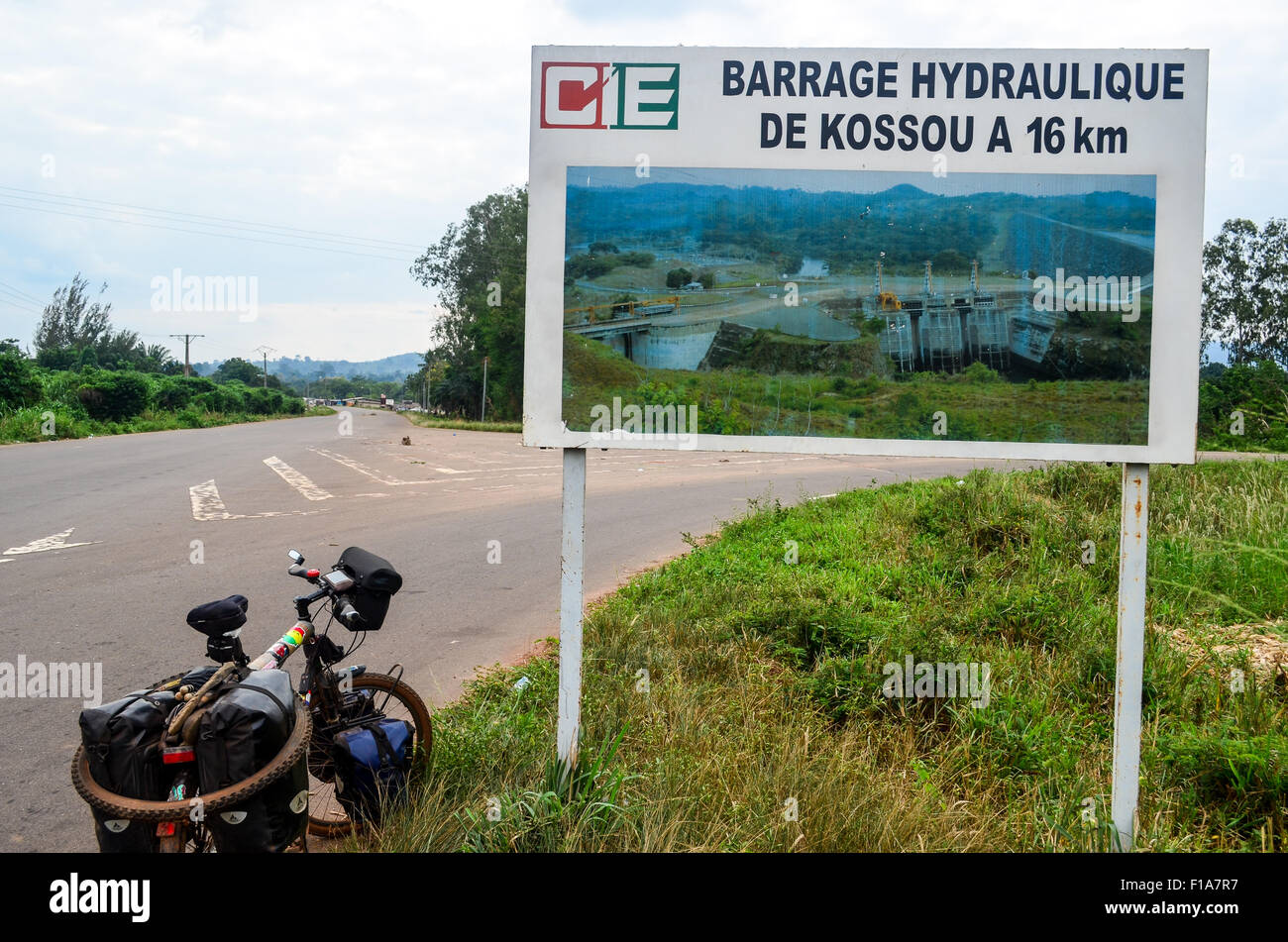 Kossou hydropower plant, Ivory Coast - Stock Image