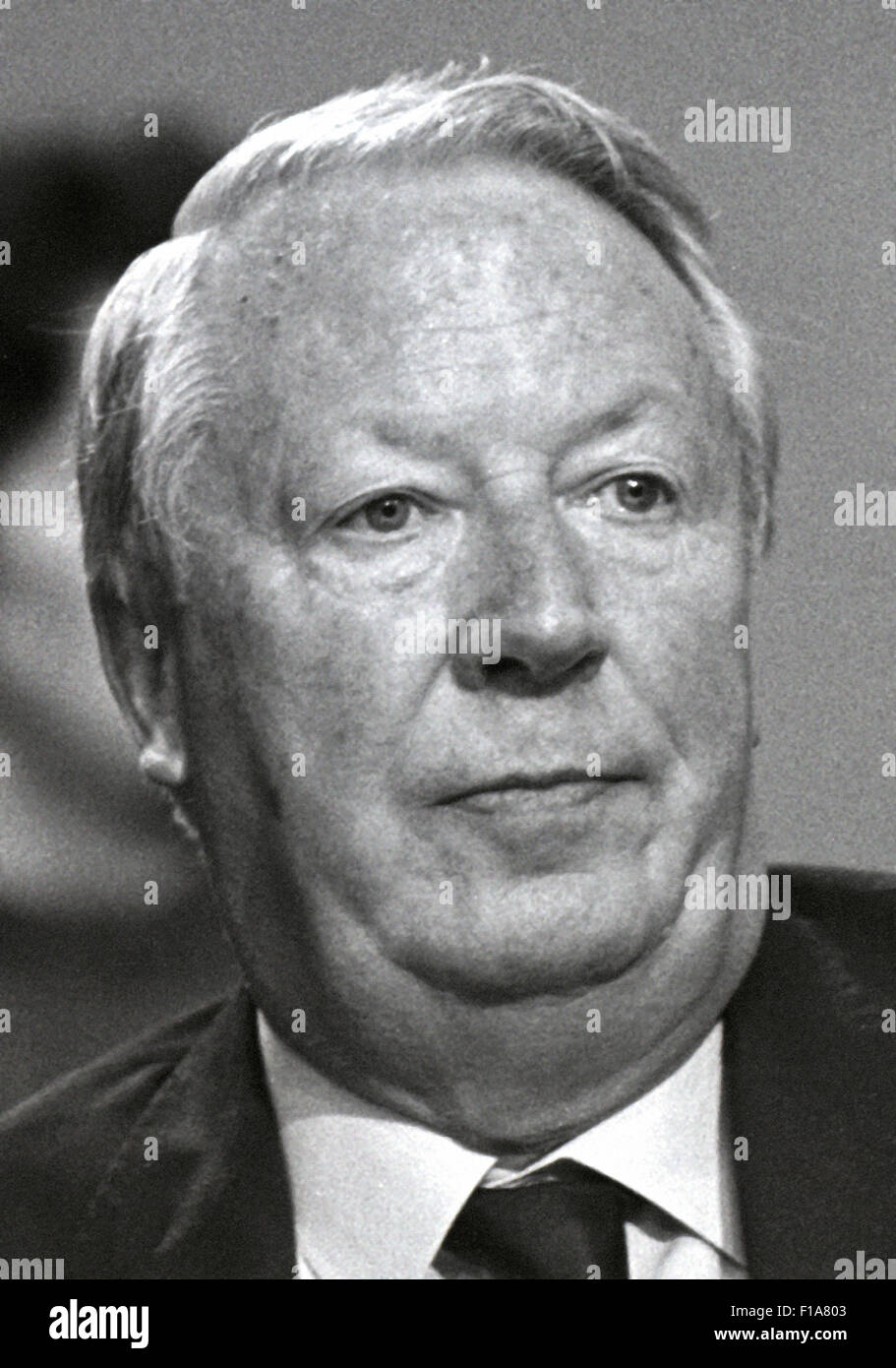 Edward Heath, Ted Heath, Sir Edward Heath Conservative Prime Minister 1970 - 1974. Exclusive image by Daviid Cole - Stock Image
