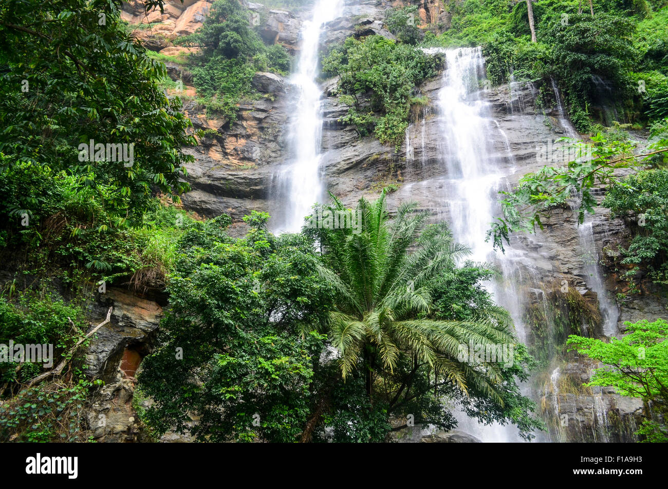 Waterfal in Kpalimé, Togo - Stock Image