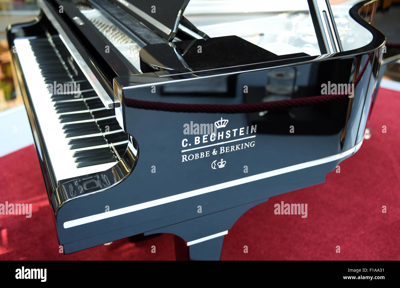 The silver grand piano 'Carl Bechstein Sterling Grand Piano