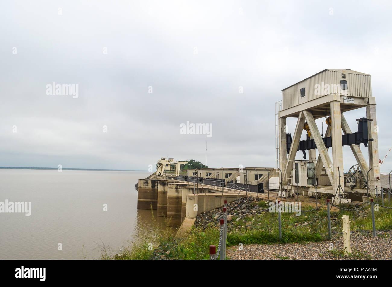 Nangbeto hydropowerplant in Togo - Stock Image
