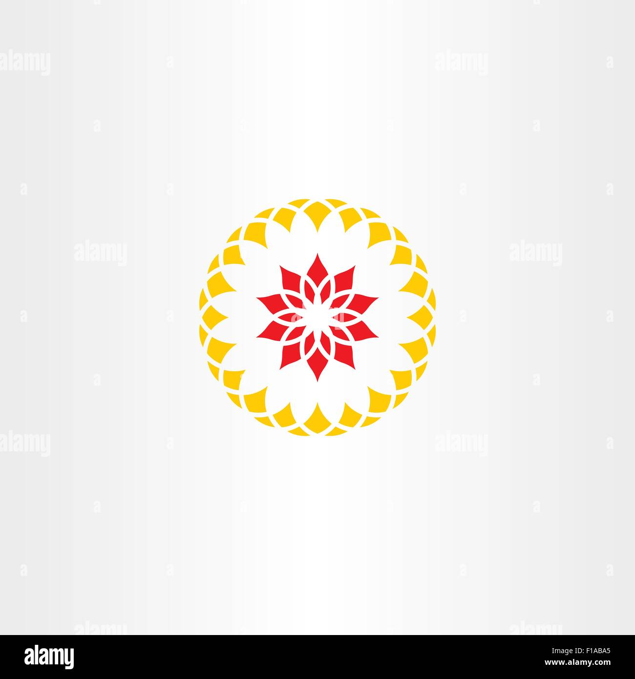 Yellow Red Flower Circle Logo Stock Vector Images Alamy
