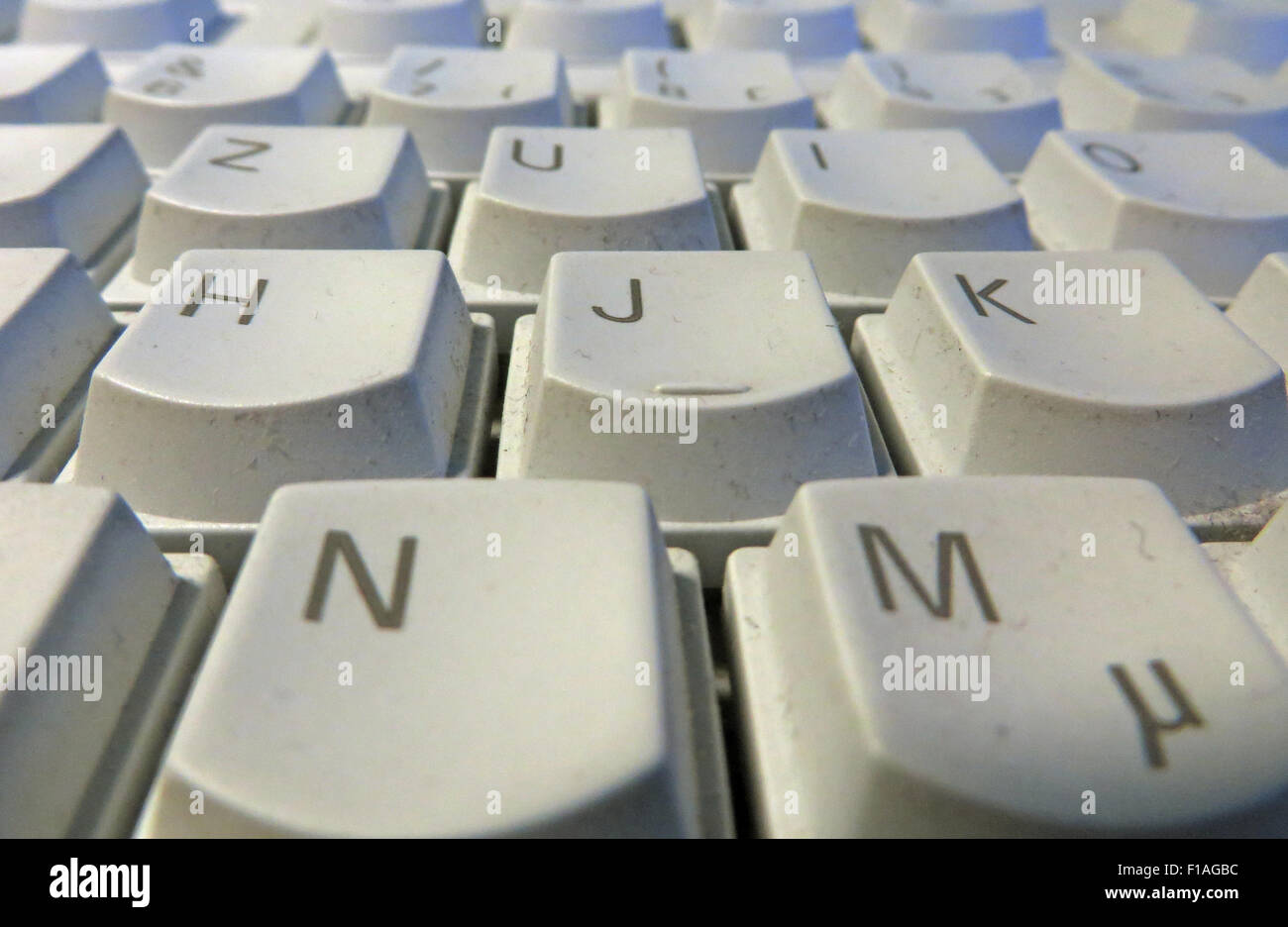 Berlin, Germany, dusty computer keyboard - Stock Image