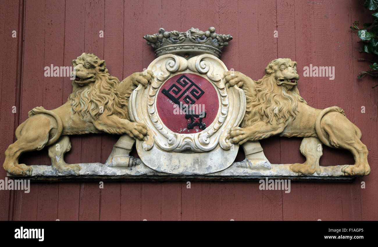 Bremen, Germany, the Great Landeswappen the Free Hanseatic City of Bremen - Stock Image