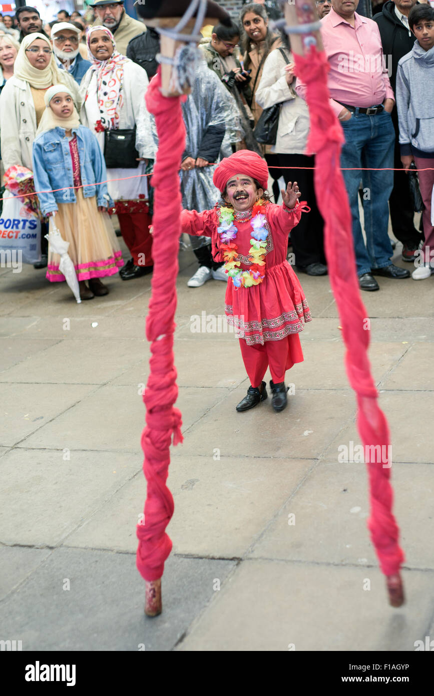 Leicester,UK,31st August 2015 : Glittering mix of live music, dance, food, fashion arts and culture at the Leicester Stock Photo