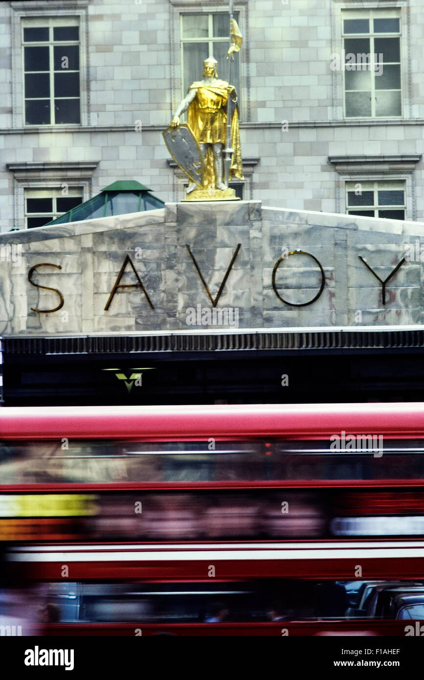 Entrance to the Savoy Hotel. London. England. UK - Stock Image