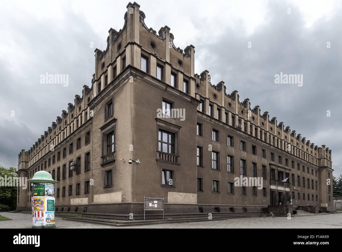 Mittal (was Stalin) Steel Works Nowa Huta (New Steel Works) Stalinist Krakow Poland - Stock Image