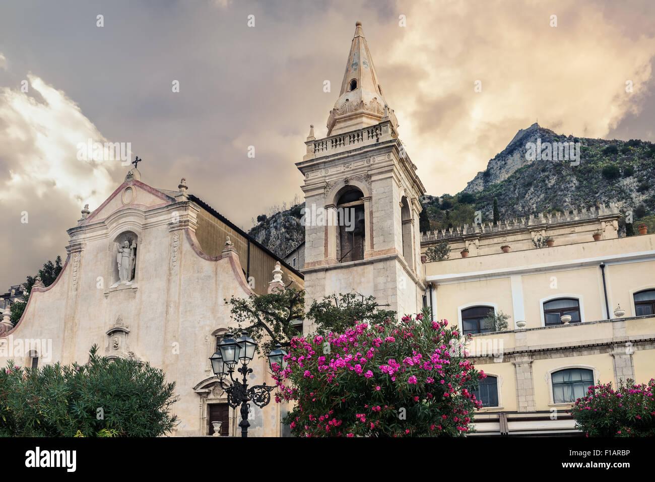 San Giuseppe Church in Taormina. Sicily, Italy - Stock Image