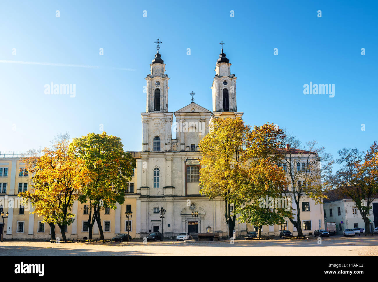 Church in Kaunas, Lithuania. - Stock Image