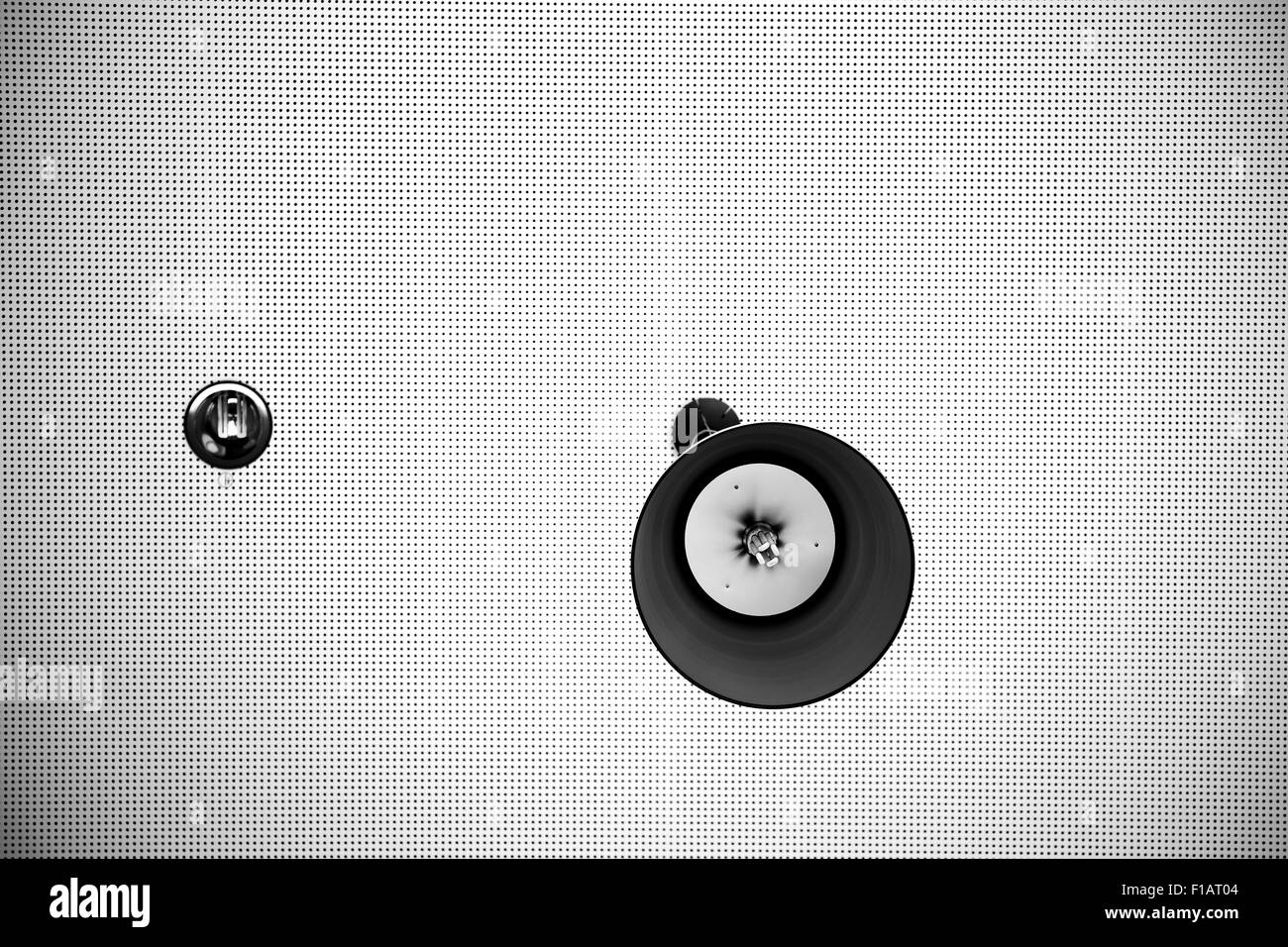 Ceiling panel with lamps - Stock Image