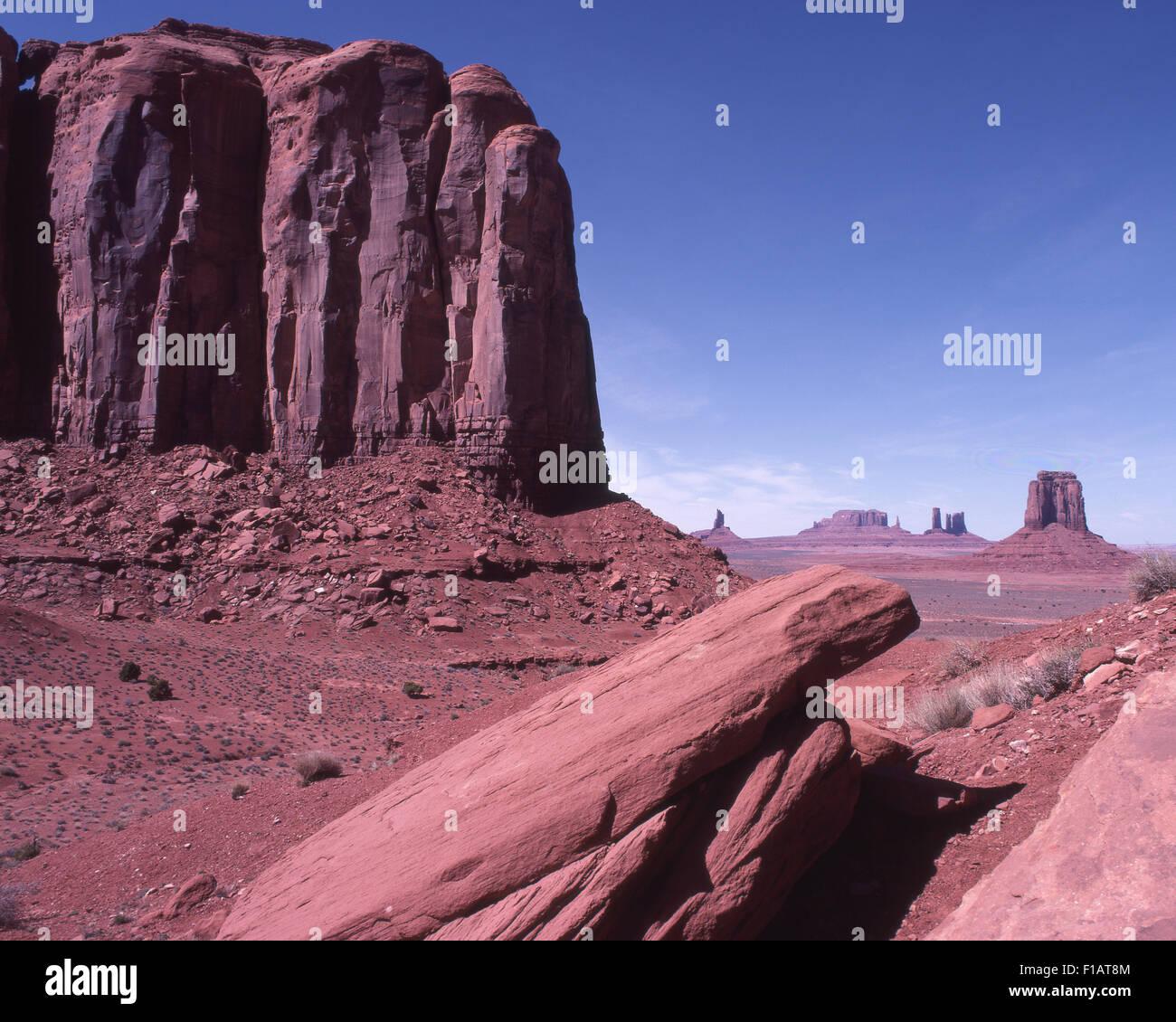 Monument Valley Navajo Tribal Park - Stock Image