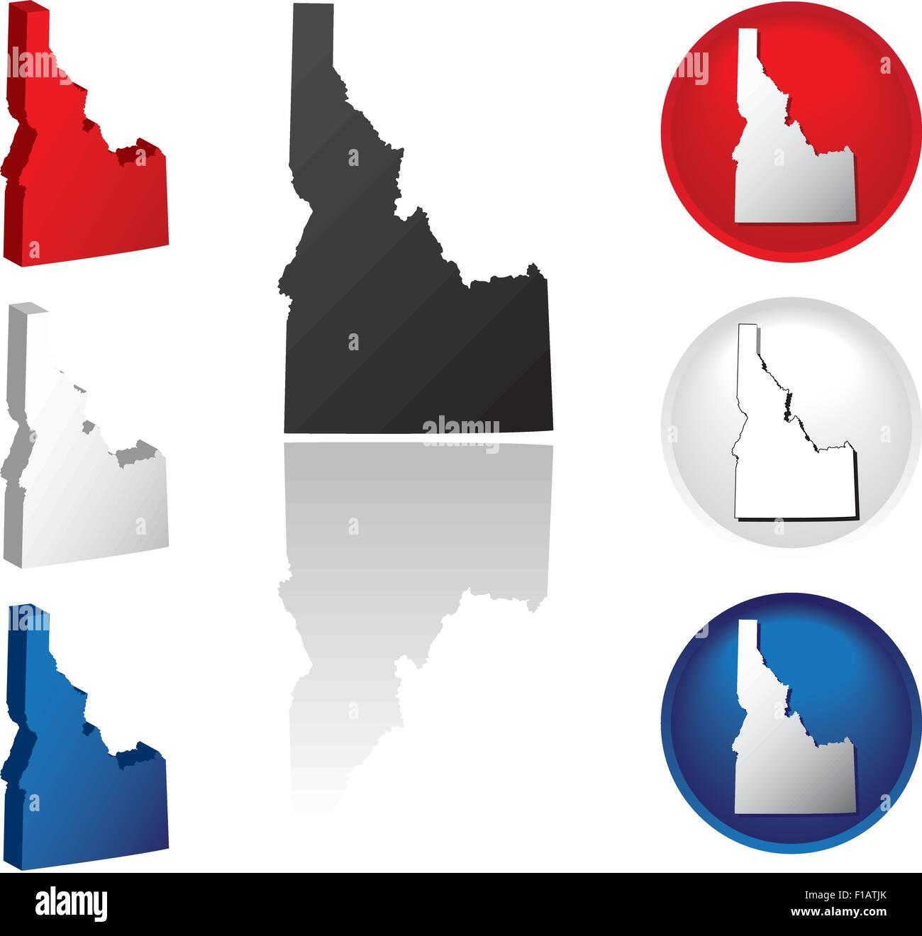 Idaho Icons - Stock Vector