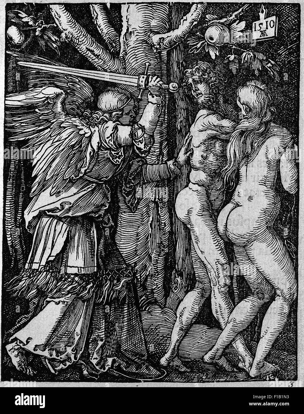 Albrecht Dürer - Expulsion from Paradise - Stock Image