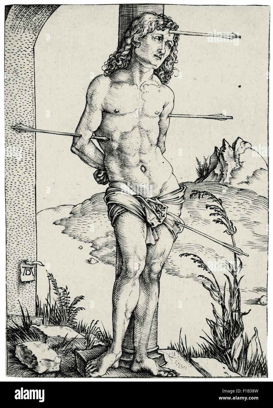 Albrecht Dürer - Saint Sebastian Bound to the Column - Stock Image
