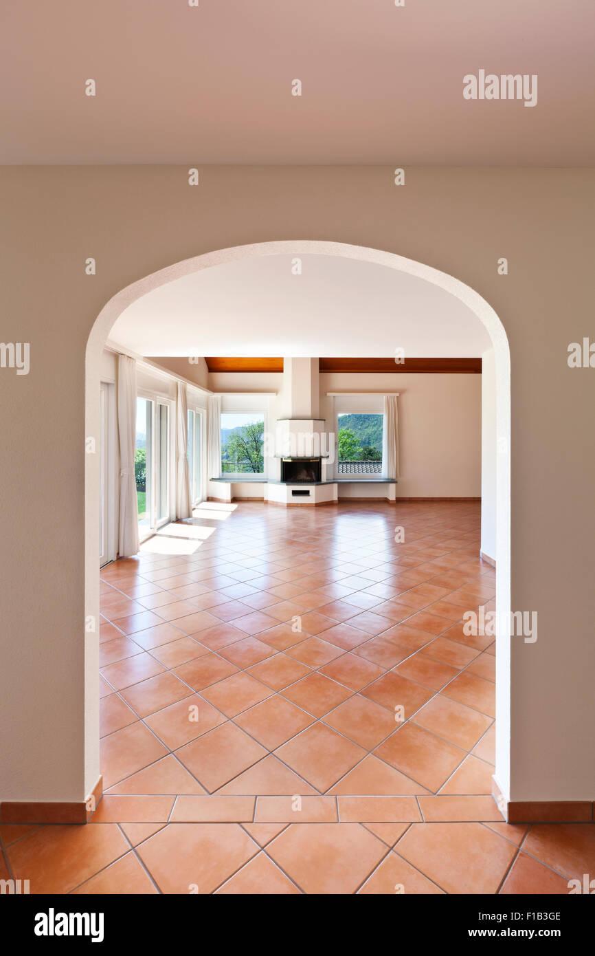 Entrance Hall With Terracotta Floor Tiles Stock Photos Entrance