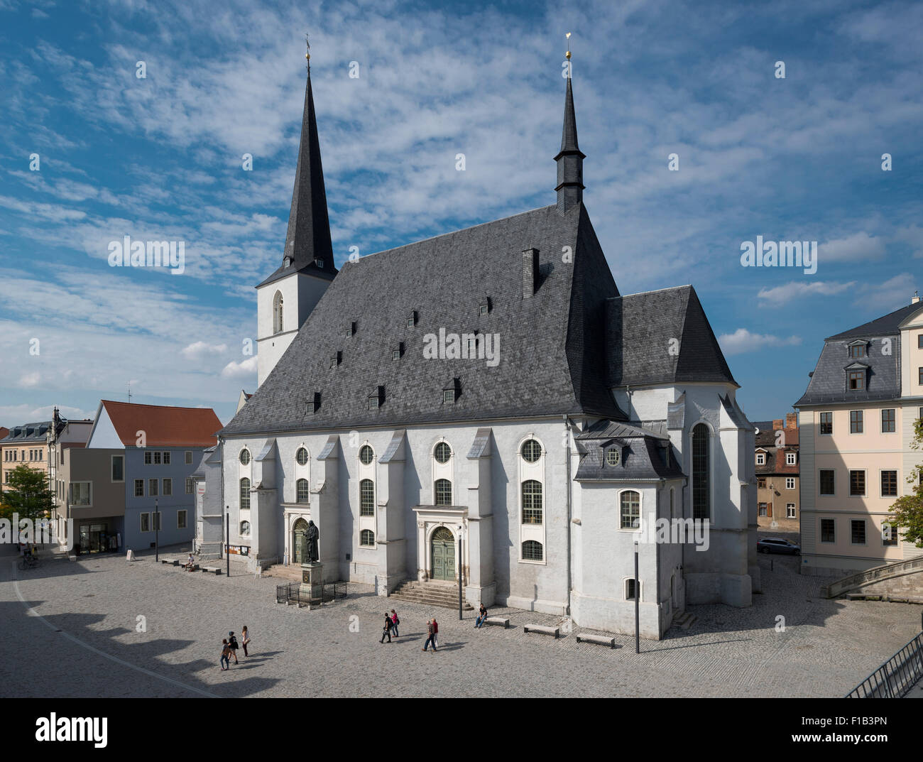 Church of St. Peter and St. Paul, also Herder Church, Herderplatz, Weimar, Thuringia, Germany - Stock Image