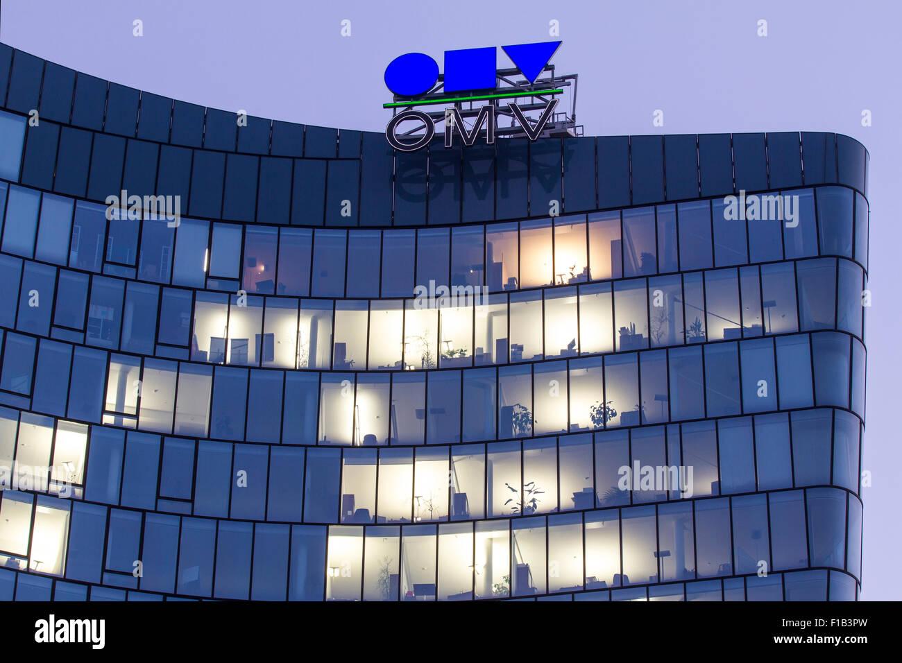 Office building Hoch Zwei, HOCH ZWEI, OMV, Austrian Mineral Oil Administration, Vienna, Austria - Stock Image