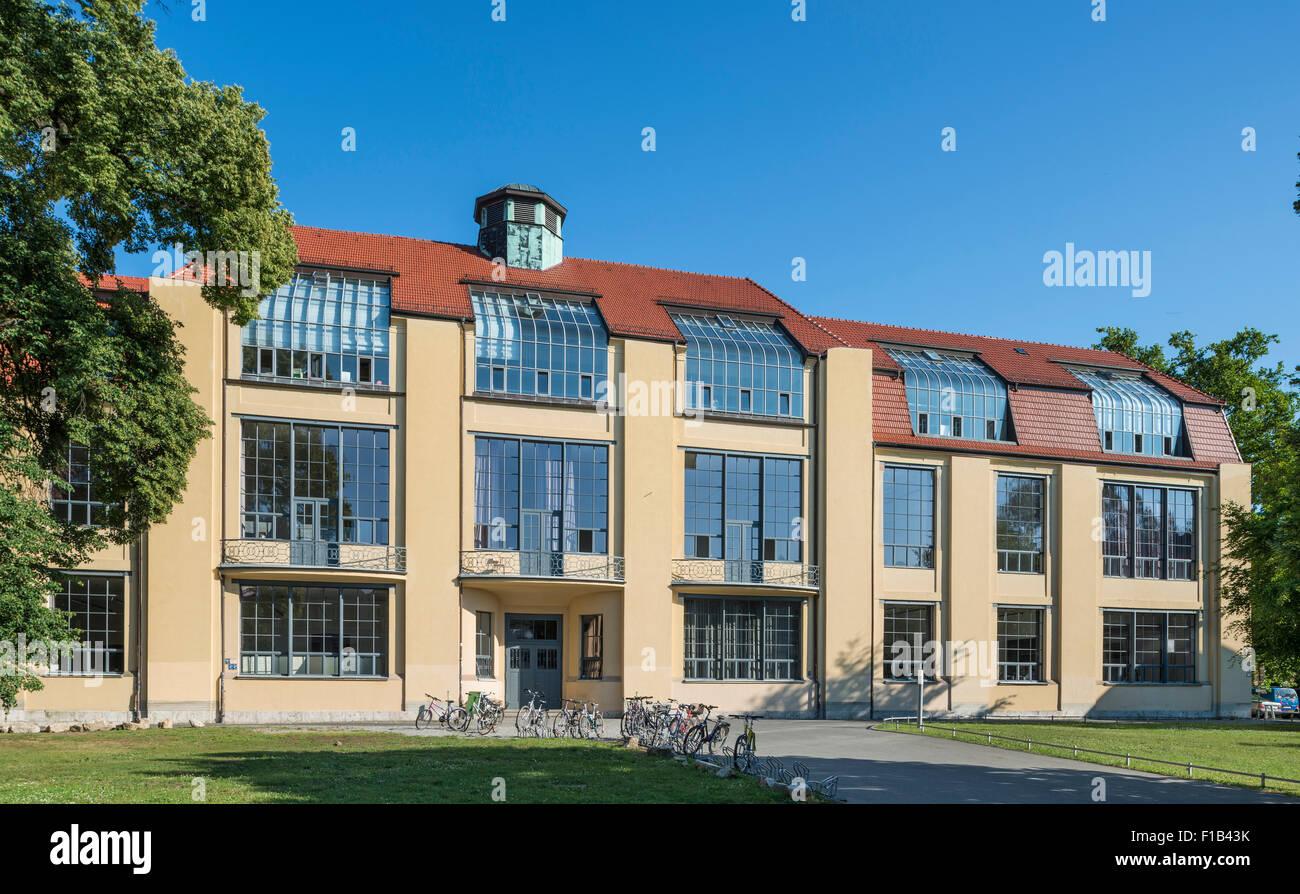 Main Building Of The Bauhaus University Weimar Former