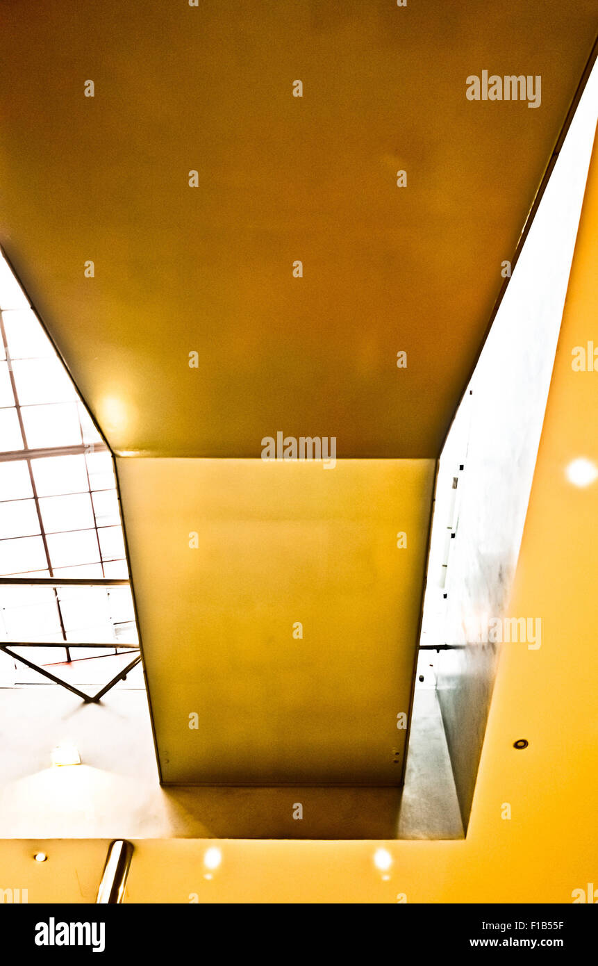 abstract yellow architecture detail - Stock Image