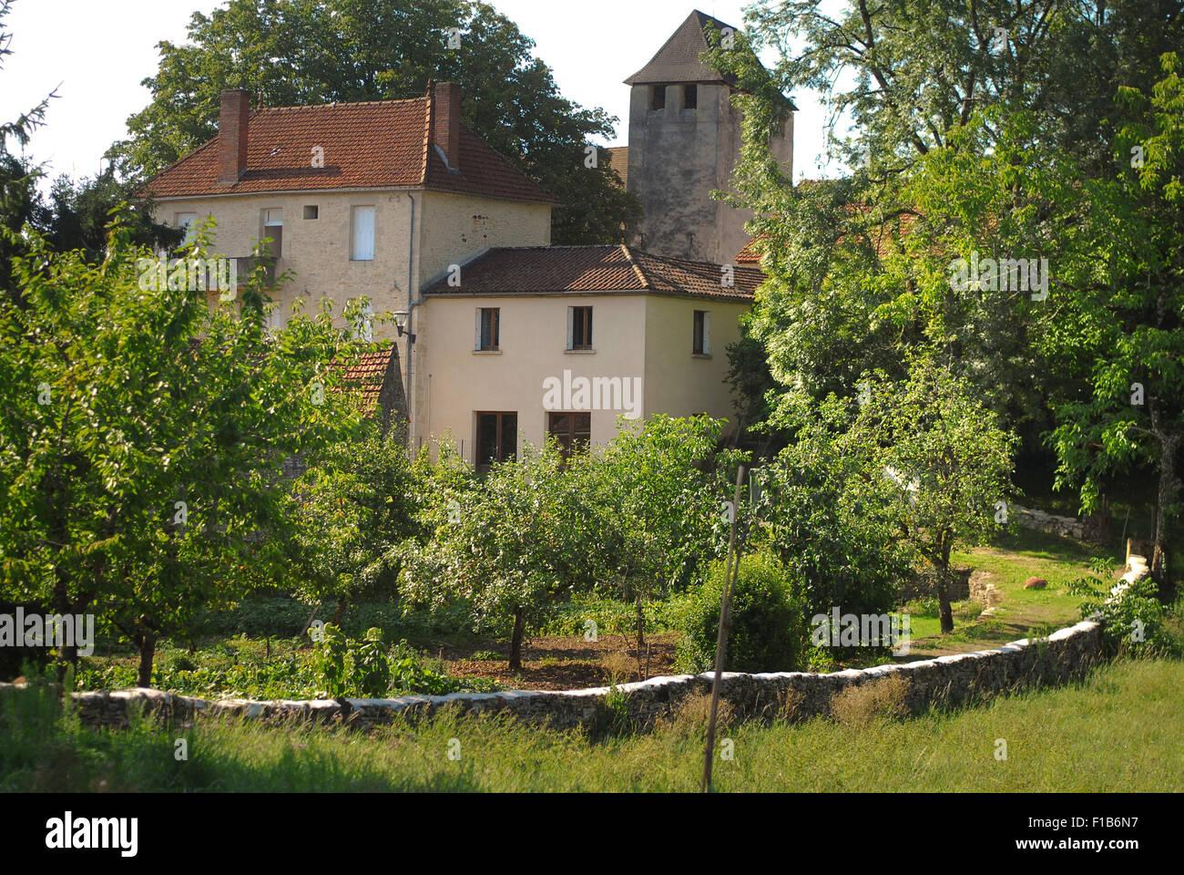Village of  Lavercantière,  Lot Valley Stock Photo