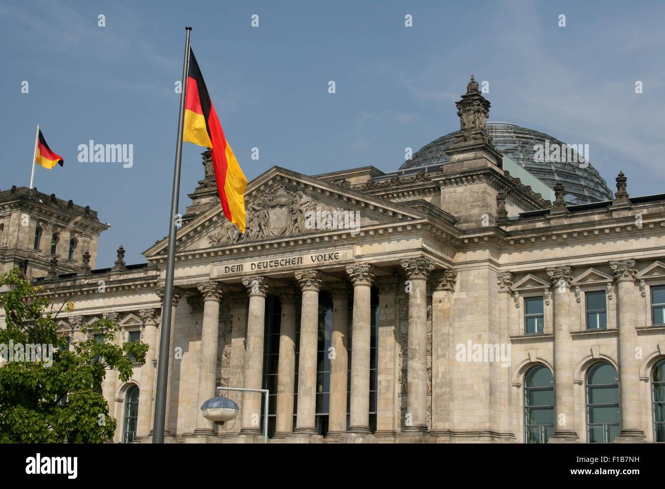 BERLIN REICHSTAG PARLIAMENT BUNDESTAG - Stock Image