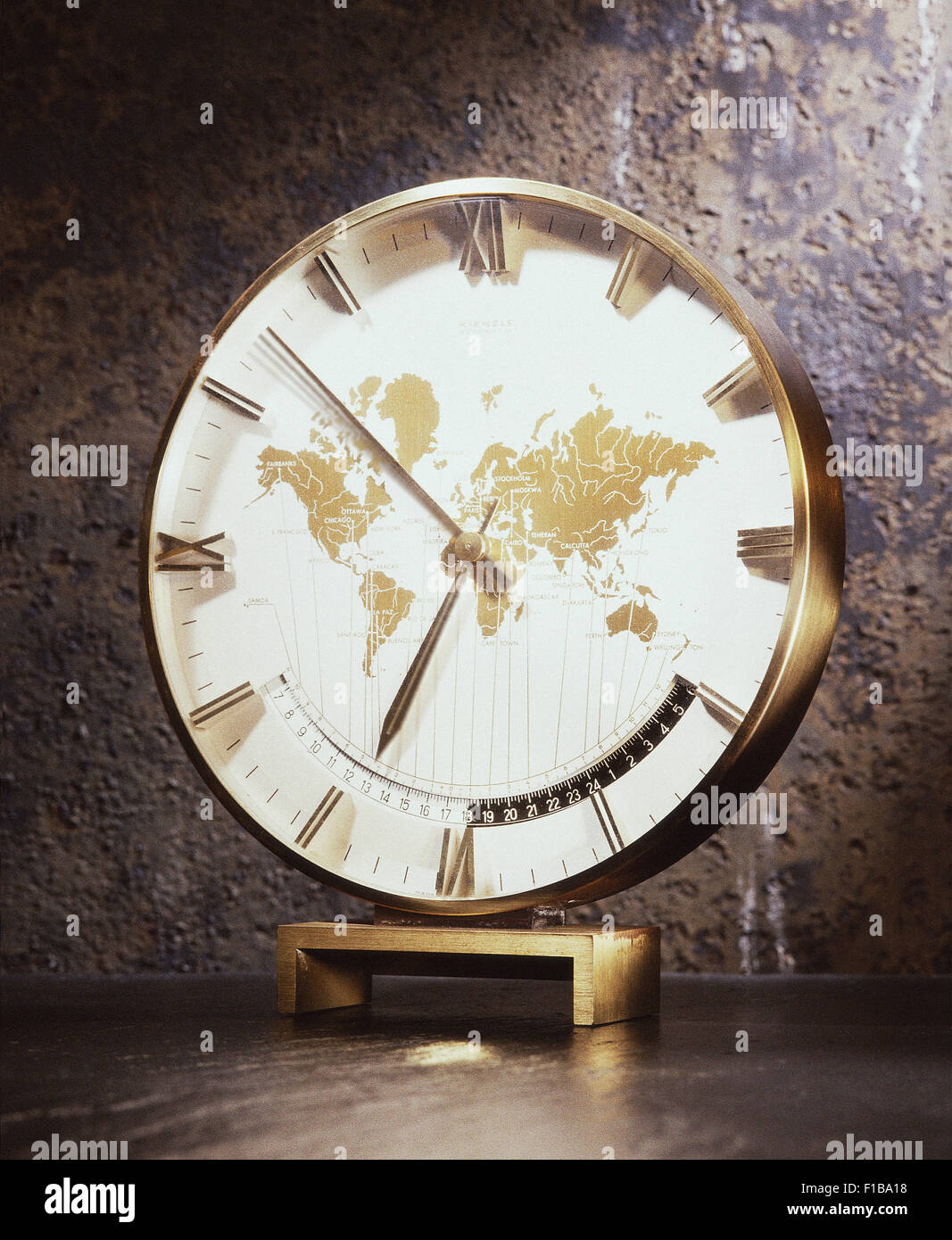 Hamburg germany europe map stock photos hamburg germany europe map hamburg germany grandfather clock with world map on the dial stock image gumiabroncs Gallery