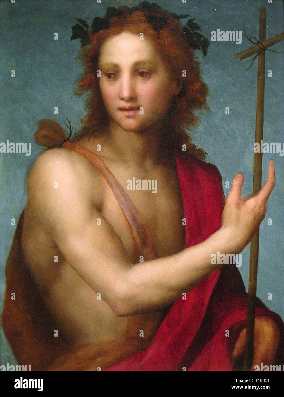 Andrea del Sarto - Saint John the Baptist - Stock Image