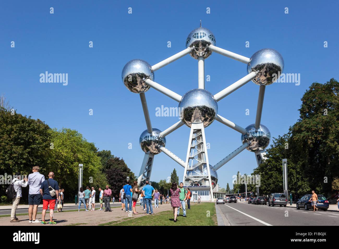 The Atomium building in Brussels, Belgium Stock Photo