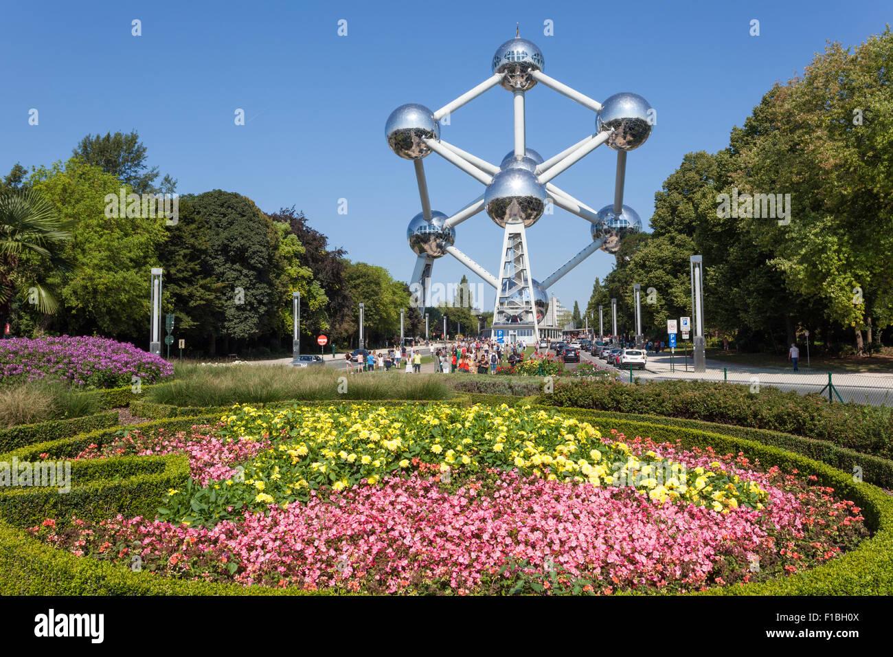 The Atomium in Brussels, Belgium - Stock Image